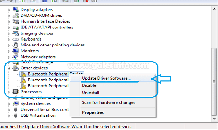 update driver software bluetooth peripheral device