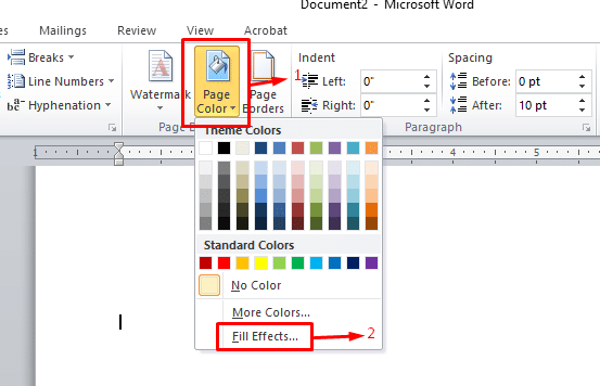 Add Backgrounds in Word Step 17